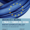 University and Reserch: Tomorrow's Italy and Europe