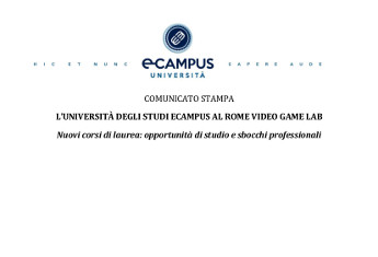 L'UNIVERSITÀ DEGLI STUDI ECAMPUS AL ROME VIDEO GAME LAB